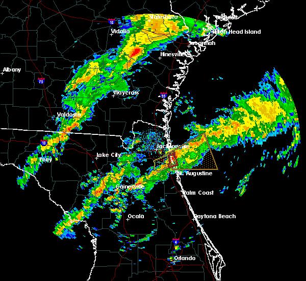 Radar Image for Severe Thunderstorms near Jacksonville, FL at 12/6/2016 8:47 AM EST