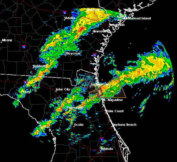 Radar Image for Severe Thunderstorms near Palm Valley, FL at 12/6/2016 8:56 AM EST