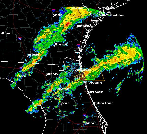 Radar Image for Severe Thunderstorms near Jacksonville, FL at 12/6/2016 8:56 AM EST