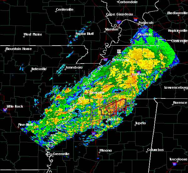 Radar Image for Severe Thunderstorms near Potts Camp, MS at 12/17/2016 10:13 PM CST