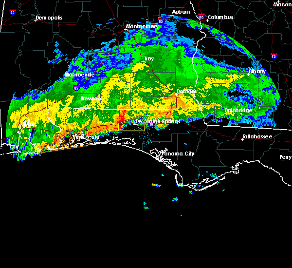 Radar Image for Severe Thunderstorms near Ponce de Leon, FL at 1/1/2017 5:34 AM CST