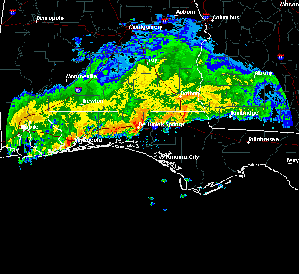 Radar Image for Severe Thunderstorms near Ponce de Leon, FL at 1/1/2017 5:58 AM CST