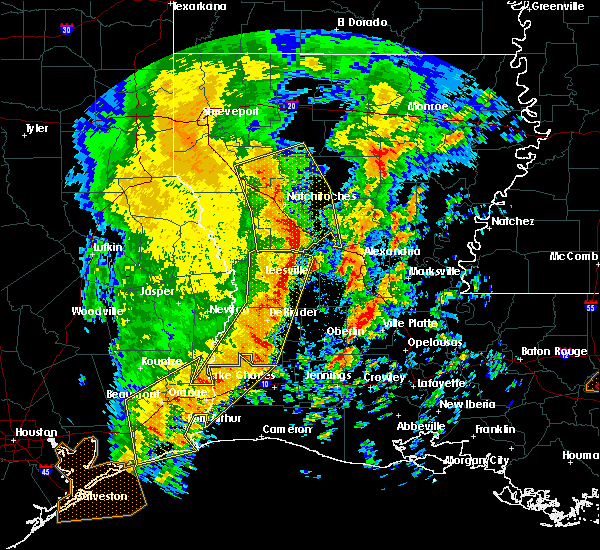Radar Image for Severe Thunderstorms near Ball, LA at 1/2/2017 10:35 AM CST