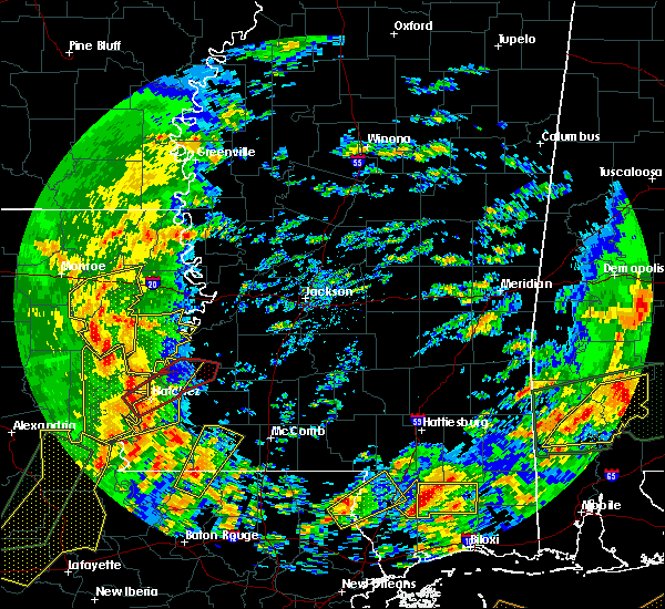 Radar Image for Severe Thunderstorms near Mangham, LA at 1/2/2017 12:25 PM CST