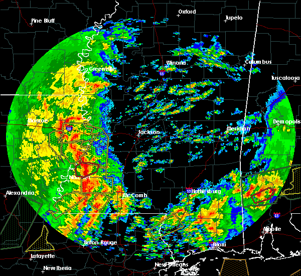 Radar Image for Severe Thunderstorms near Fayette, MS at 1/2/2017 12:58 PM CST