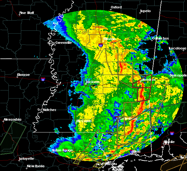 Radar Image for Severe Thunderstorms near Lauderdale, MS at 1/2/2017 3:35 PM CST