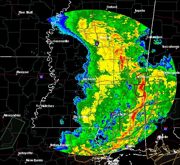 Radar Image for Severe Thunderstorms near Lauderdale, MS at 1/2/2017 3:45 PM CST