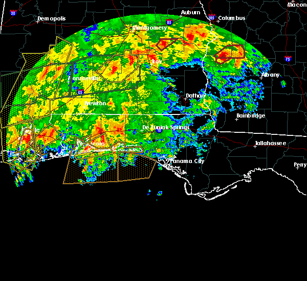 Radar Image for Severe Thunderstorms near Midway, FL at 1/2/2017 4:48 PM CST