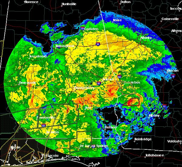 Radar Image for Severe Thunderstorms near Columbus, GA at 1/2/2017 6:10 PM EST