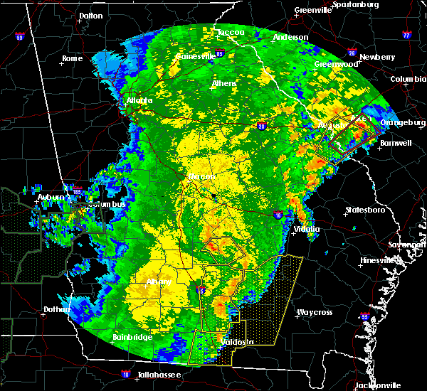 Radar Image for Severe Thunderstorms near Helena, GA at 1/2/2017 11:34 PM EST