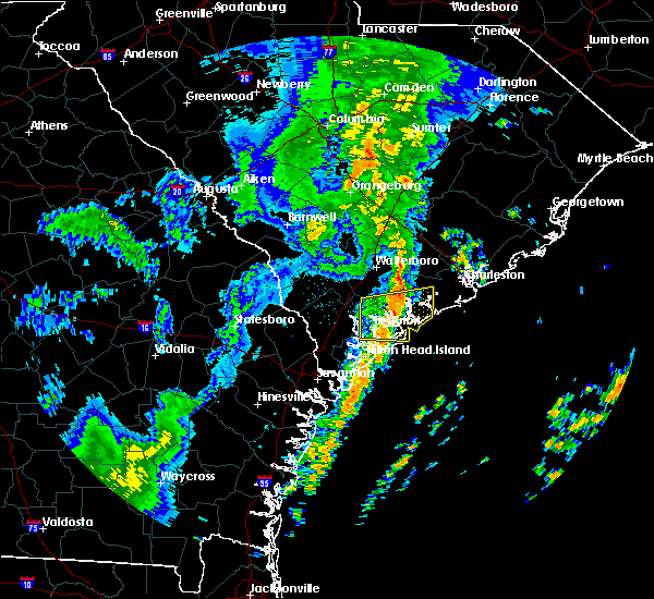 Radar Image for Severe Thunderstorms near Edisto Beach, SC at 1/3/2017 2:29 AM EST