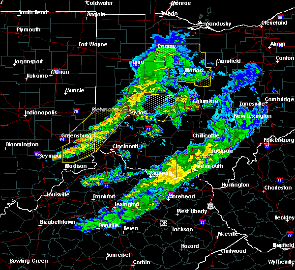Radar Image for Severe Thunderstorms near New Lebanon, OH at 1/10/2017 9:18 PM EST
