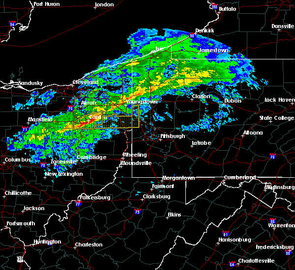 Radar Image for Severe Thunderstorms near Calcutta, OH at 1/12/2017 1:37 PM EST