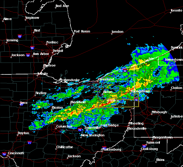 Radar Image for Severe Thunderstorms near Massillon, OH at 1/12/2017 1:36 PM EST