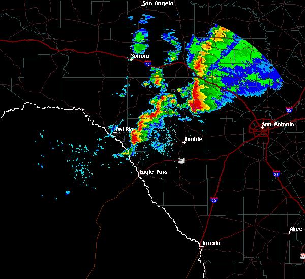 Radar Image for Severe Thunderstorms near Ingram, TX at 1/15/2017 7:51 PM CST