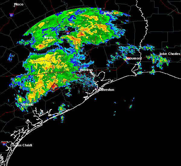 Radar Image for Severe Thunderstorms near Wharton, TX at 1/18/2017 1:08 AM CST