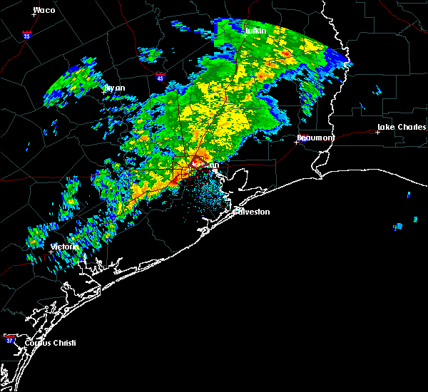 Radar Image for Severe Thunderstorms near Houston, TX at 1/18/2017 4:09 AM CST