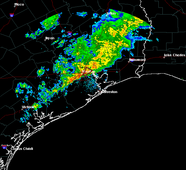 Radar Image for Severe Thunderstorms near Channelview, TX at 1/18/2017 5:06 AM CST