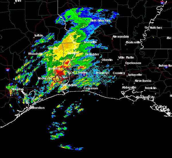 Radar Image for Severe Thunderstorms near Vidor, TX at 1/20/2017 8:35 PM CST