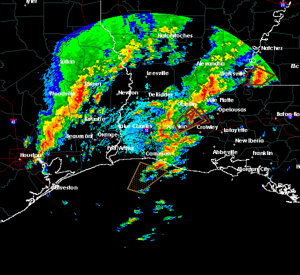 Radar Image for Severe Thunderstorms near Eunice, LA at 1/21/2017 12:00 AM CST
