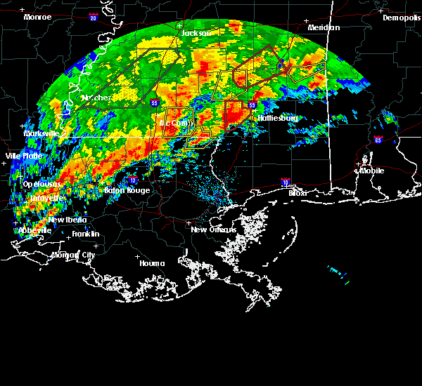 Radar Image for Severe Thunderstorms near West Hattiesburg, MS at 1/21/2017 3:29 AM CST