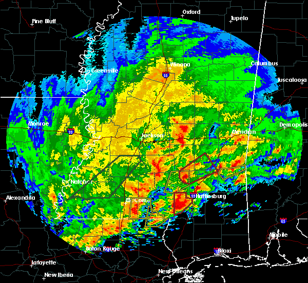 Radar Image for Severe Thunderstorms near Heidelberg, MS at 1/21/2017 3:30 AM CST