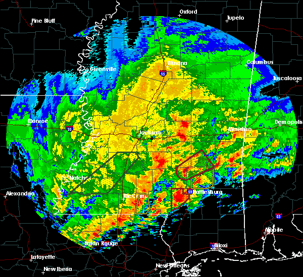 Radar Image for Severe Thunderstorms near Ellisville, MS at 1/21/2017 3:35 AM CST