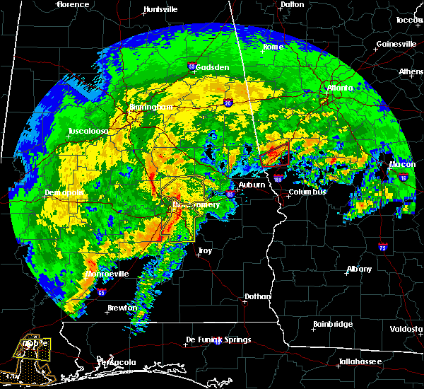 Radar Image for Severe Thunderstorms near Pike Road, AL at 1/21/2017 7:50 AM CST