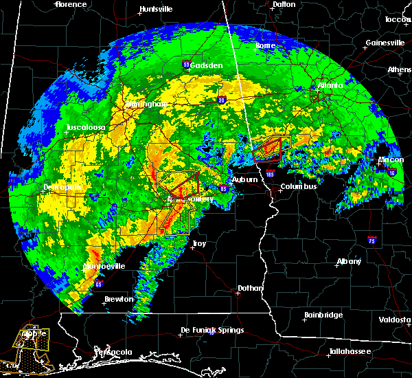 Radar Image for Severe Thunderstorms near Pike Road, AL at 1/21/2017 7:59 AM CST