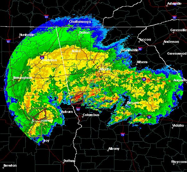 Radar Image for Severe Thunderstorms near LaGrange, GA at 1/21/2017 8:59 AM EST