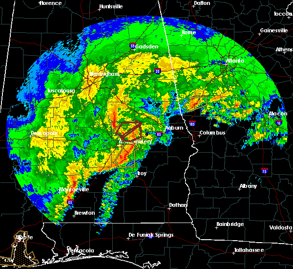 Radar Image for Severe Thunderstorms near Montgomery, AL at 1/21/2017 8:05 AM CST