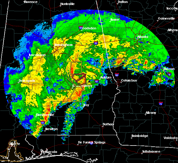Radar Image for Severe Thunderstorms near Eclectic, AL at 1/21/2017 8:11 AM CST