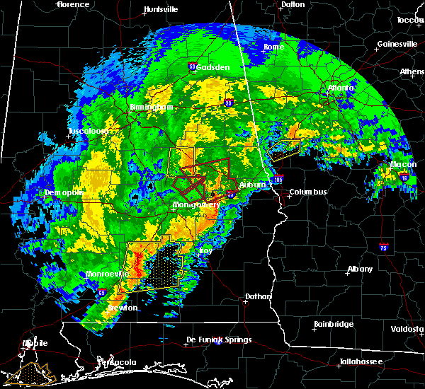 Radar Image for Severe Thunderstorms near Hissop, AL at 1/21/2017 8:26 AM CST