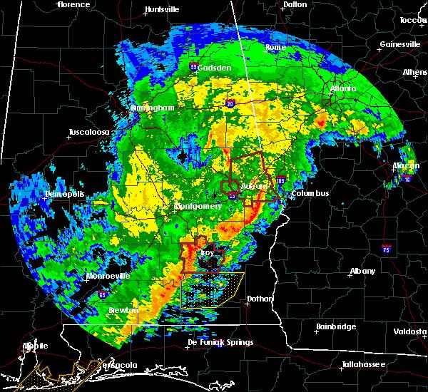 Radar Image for Severe Thunderstorms near Auburn, AL at 1/21/2017 9:09 AM CST