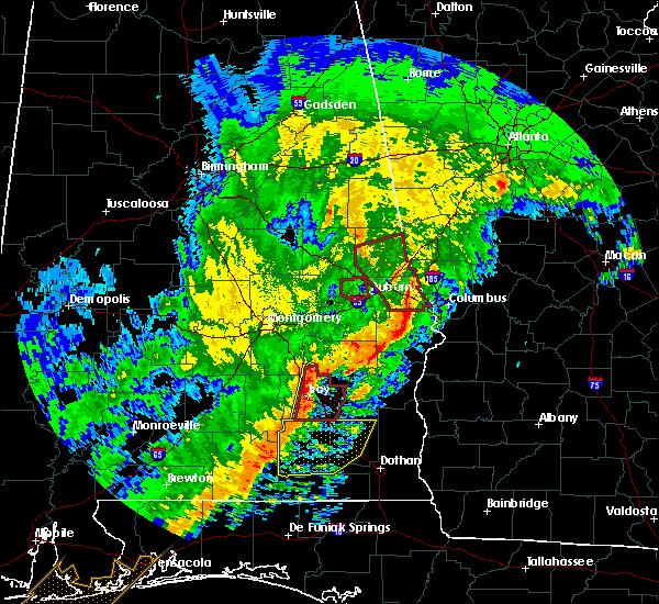 Radar Image for Severe Thunderstorms near Columbus, GA at 1/21/2017 10:18 AM EST