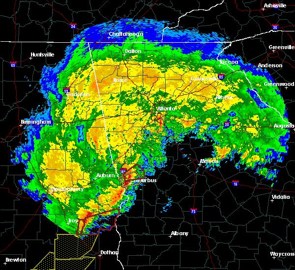 Radar Image for Severe Thunderstorms near Shiloh, GA at 1/21/2017 10:39 AM EST