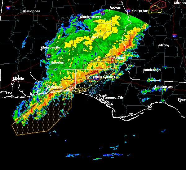 Radar Image for Severe Thunderstorms near Ponce de Leon, FL at 1/21/2017 10:34 AM CST