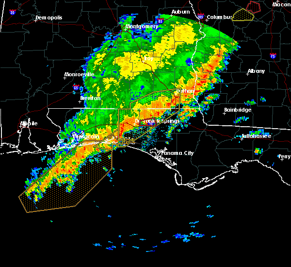 Radar Image for Severe Thunderstorms near Ponce de Leon, FL at 1/21/2017 10:45 AM CST