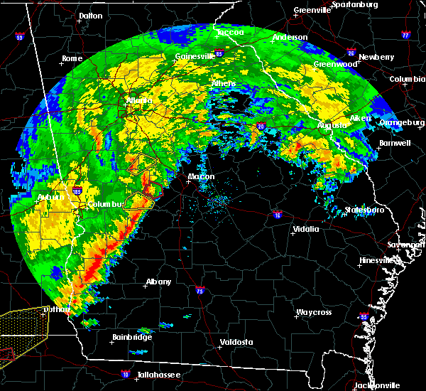Radar Image for Severe Thunderstorms near Roberta, GA at 1/21/2017 11:45 AM EST
