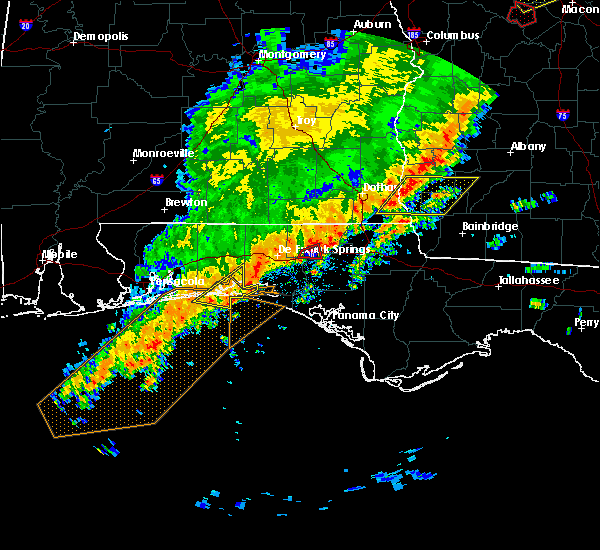 Radar Image for Severe Thunderstorms near Niceville, FL at 1/21/2017 10:58 AM CST