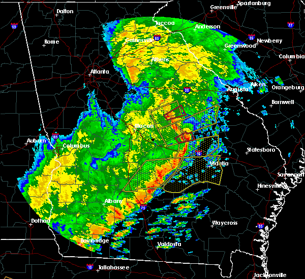 Radar Image for Severe Thunderstorms near Milan, GA at 1/21/2017 1:34 PM EST