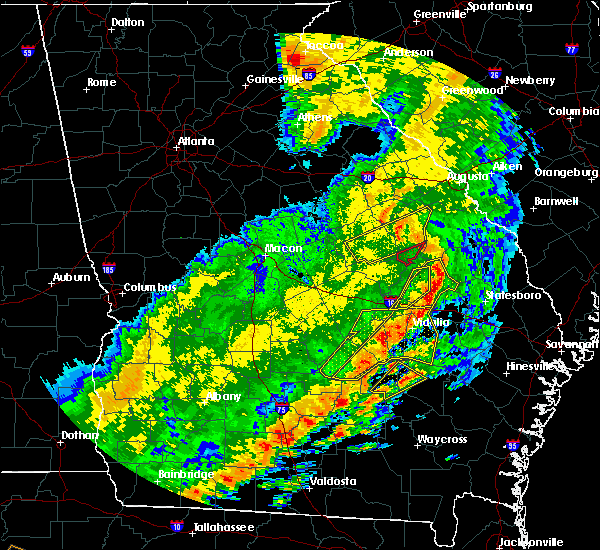 Radar Image for Severe Thunderstorms near Stillmore, GA at 1/21/2017 2:17 PM EST