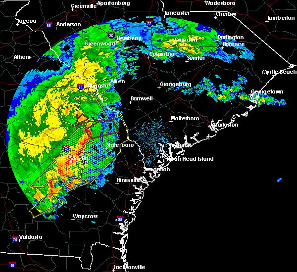 Radar Image for Severe Thunderstorms near Sylvania, GA at 1/21/2017 2:26 PM EST