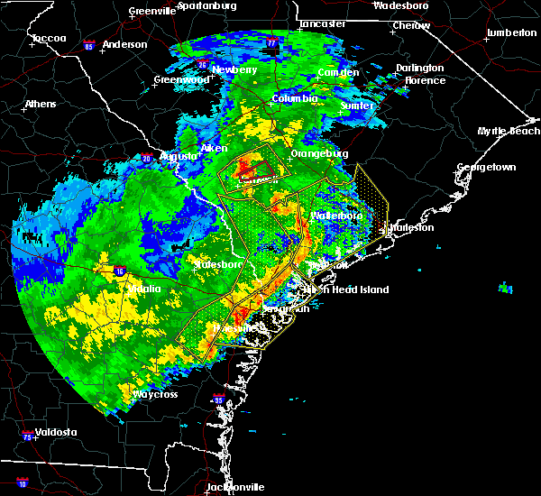Radar Image for Severe Thunderstorms near North Charleston, SC at 1/21/2017 4:00 PM EST