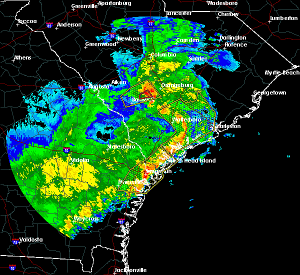 Radar Image for Severe Thunderstorms near Ravenel, SC at 1/21/2017 4:15 PM EST