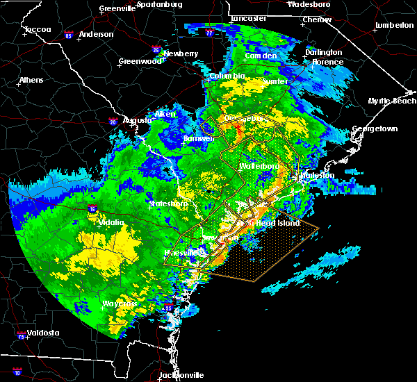 Radar Image for Severe Thunderstorms near North Charleston, SC at 1/21/2017 4:42 PM EST