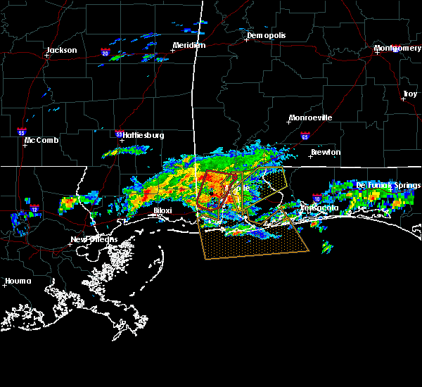 Radar Image for Severe Thunderstorms near Spanish Fort, AL at 1/21/2017 7:03 PM CST