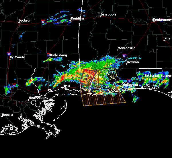Radar Image for Severe Thunderstorms near Chatom, AL at 1/21/2017 7:06 PM CST