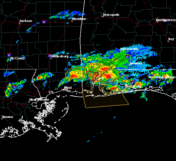 Radar Image for Severe Thunderstorms near Spanish Fort, AL at 1/21/2017 7:25 PM CST