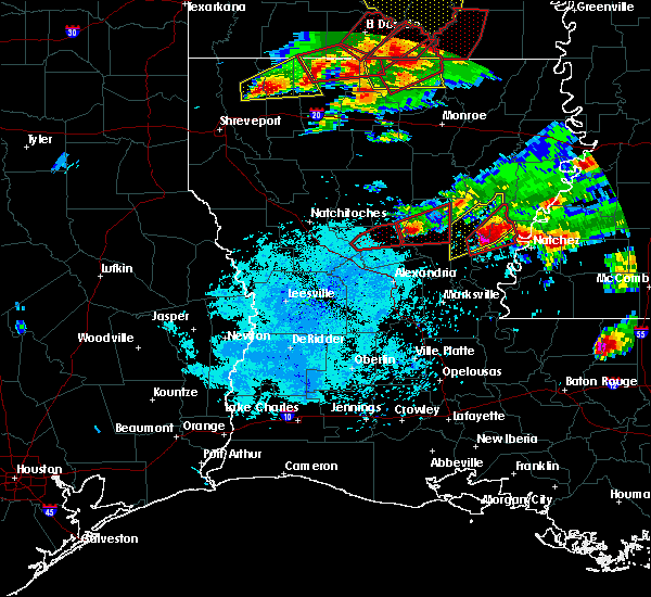 Radar Image for Severe Thunderstorms near Minorca, LA at 1/21/2017 8:02 PM CST